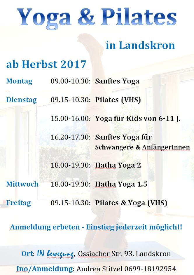 Yoga&Pilates Herbst 2017