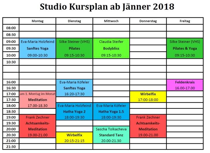 Studio Nutzung ab Jänner 2018