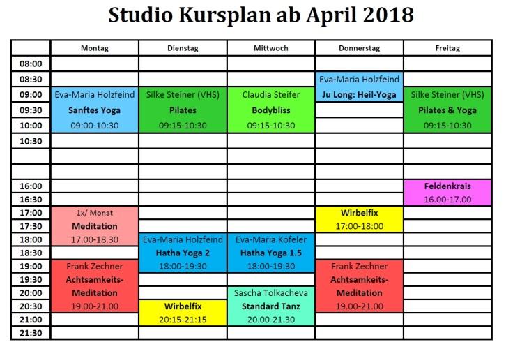 Studio Nutzung ab April 2018