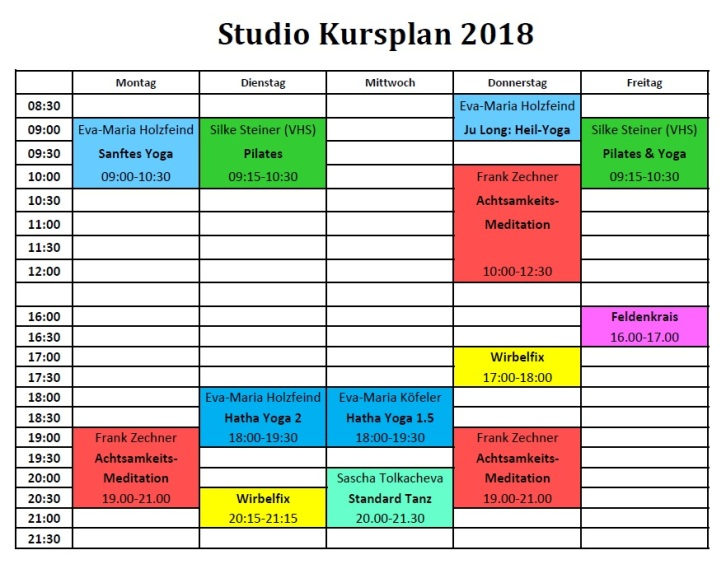 Studio Nutzung ab Herbst 2018