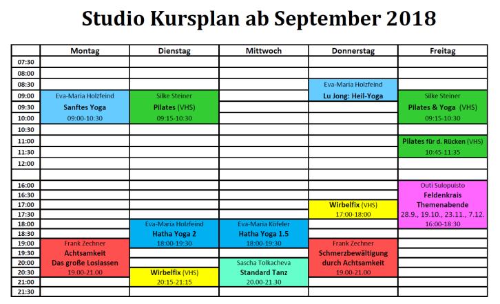 Studio Kursplan ab Sept 2018 v2