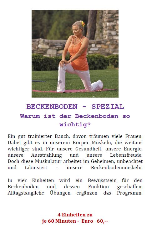 Beckenboden Herbst 2019