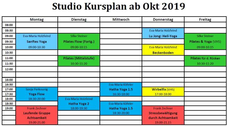 Studio Termine ab Okt 2019