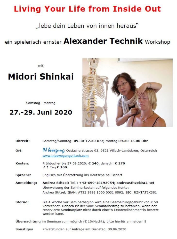 Midori Workshop_Living Your Life from the Inside Out