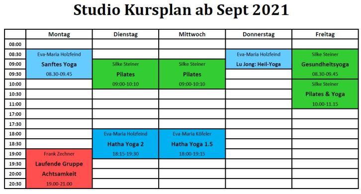 Studio ab Sept 2021